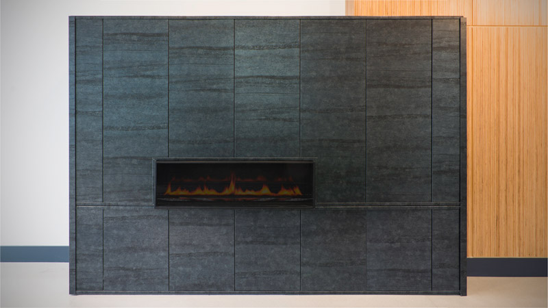 The Eddy Apartments | Fireplace